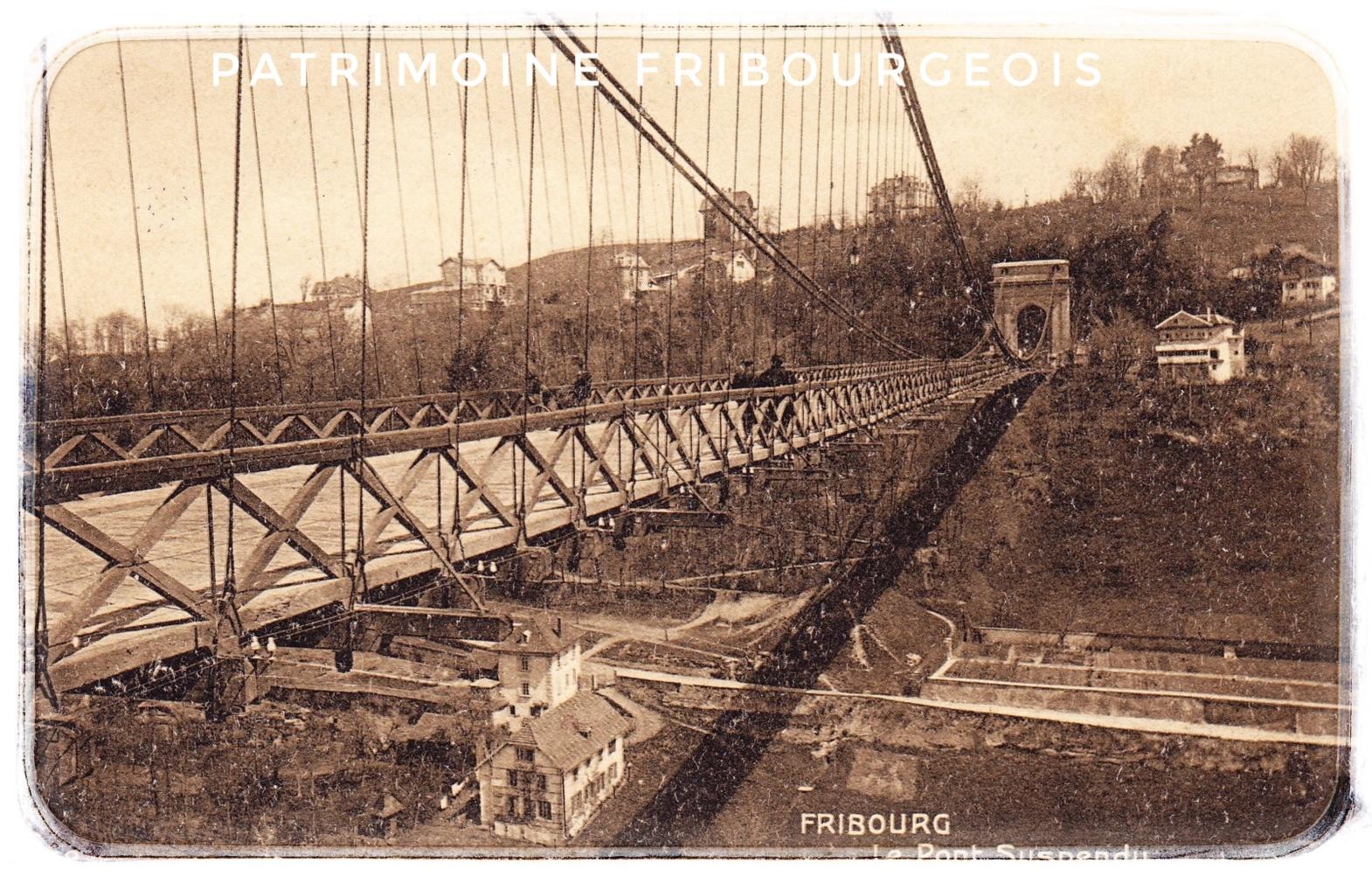 Fribourg - Le pont suspendu
