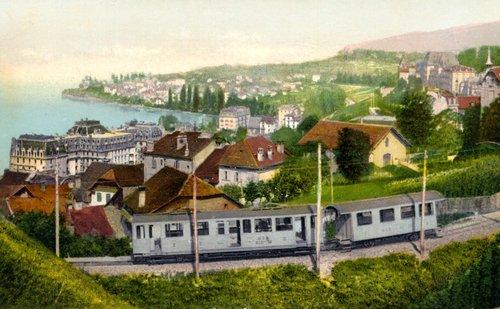 Montreux et le train MOB