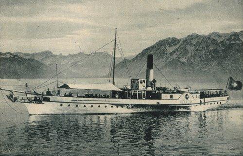 L' Helvétie, bateau de la Compagnie générale de Navigation sur le Léman, 1919