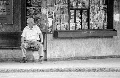 Genève, pause au kiosque des Eaux-Vives