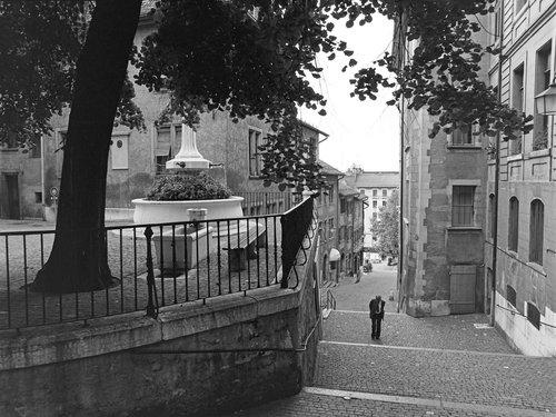 Genève, la Rue du Perron en 1978