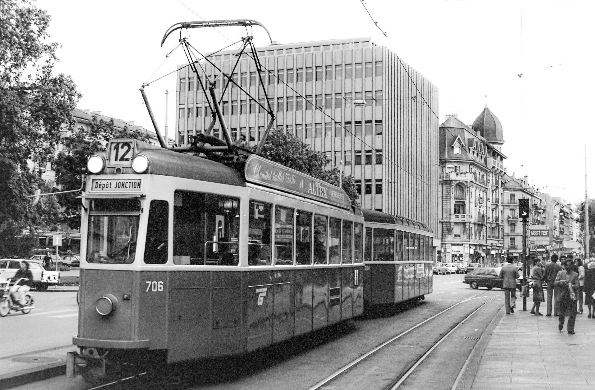 Genève, le Tram 12