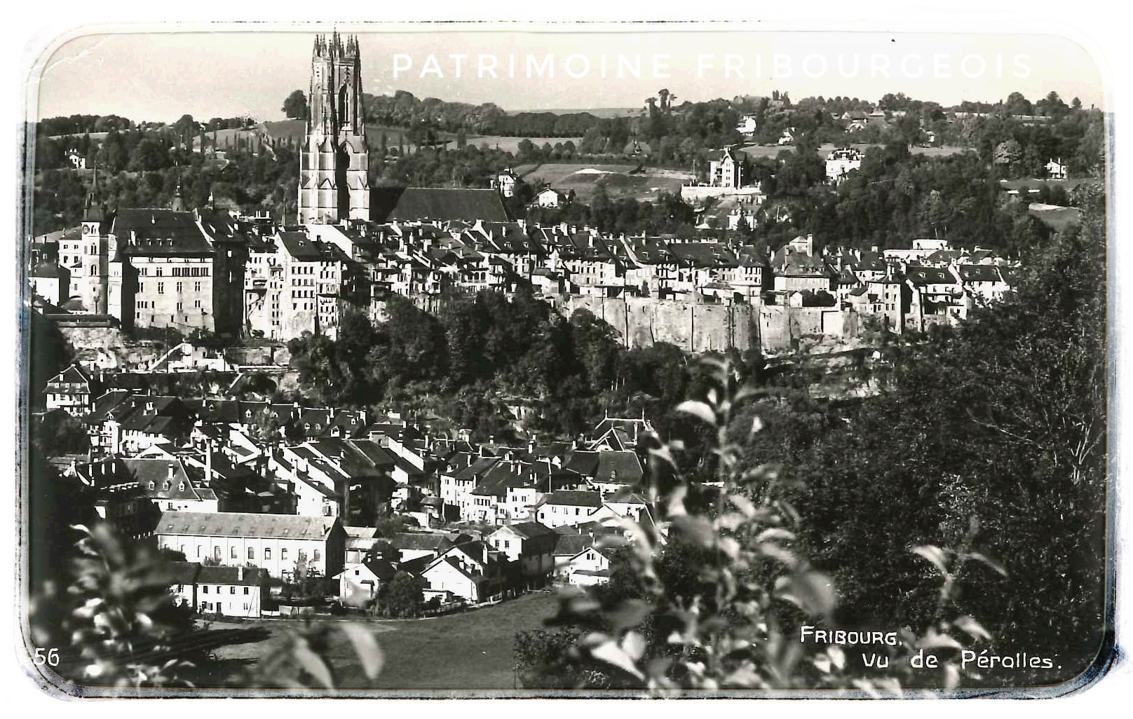 Fribourg vu de Pérolles