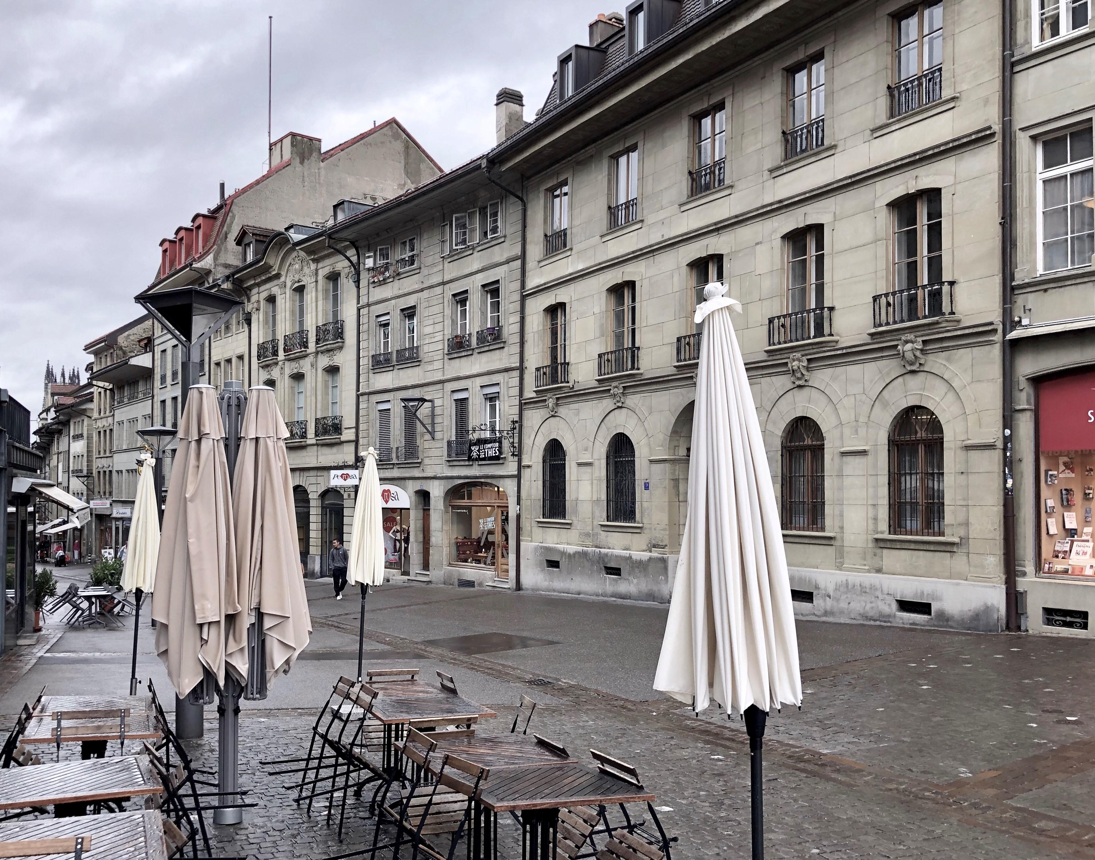 Avant - Après: Fribourg et la rue de Lausanne