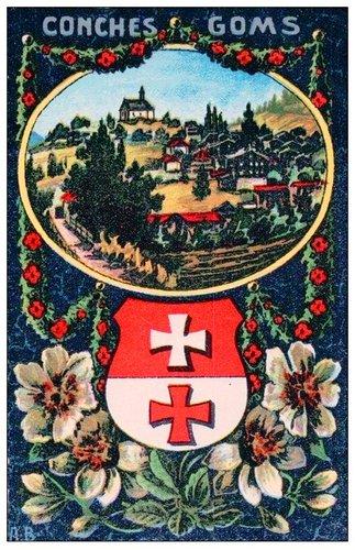 Les armoiries du Valais et de ses districts