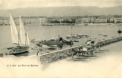 Le port de Genève