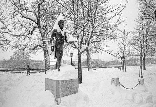 Genève, il neige sur Pictet de Rochemont