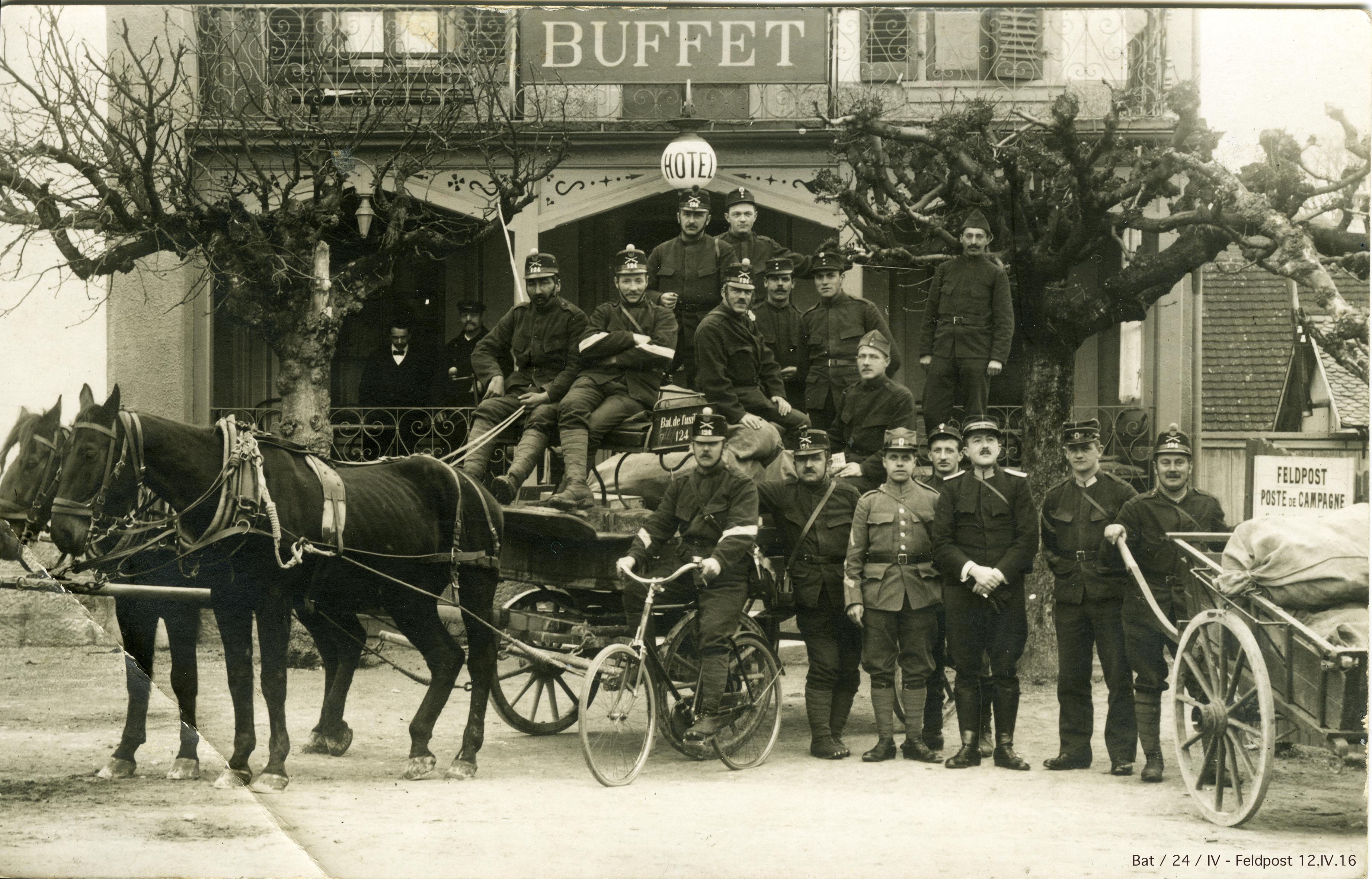 Bat / 24 / IV - par poste de campagne - 12.IV.1916
