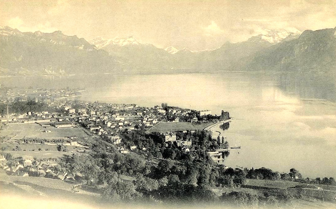 Une vue de Vevey