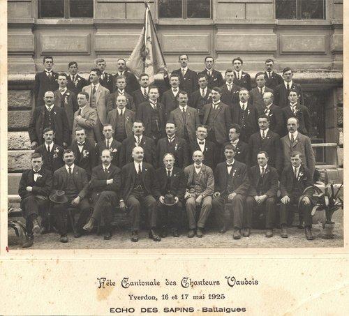 Choeur d'Hommes l'Echo des Sapins Ballaigues 1925