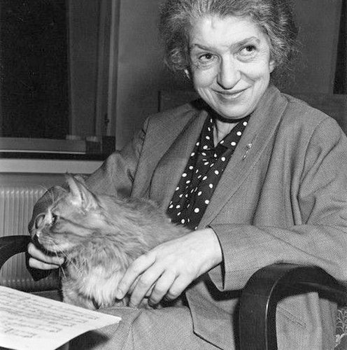 Clara Haskil et un de ses chats