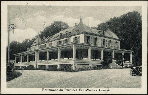 Genève, restaurant du parc des Eaux-Vives
