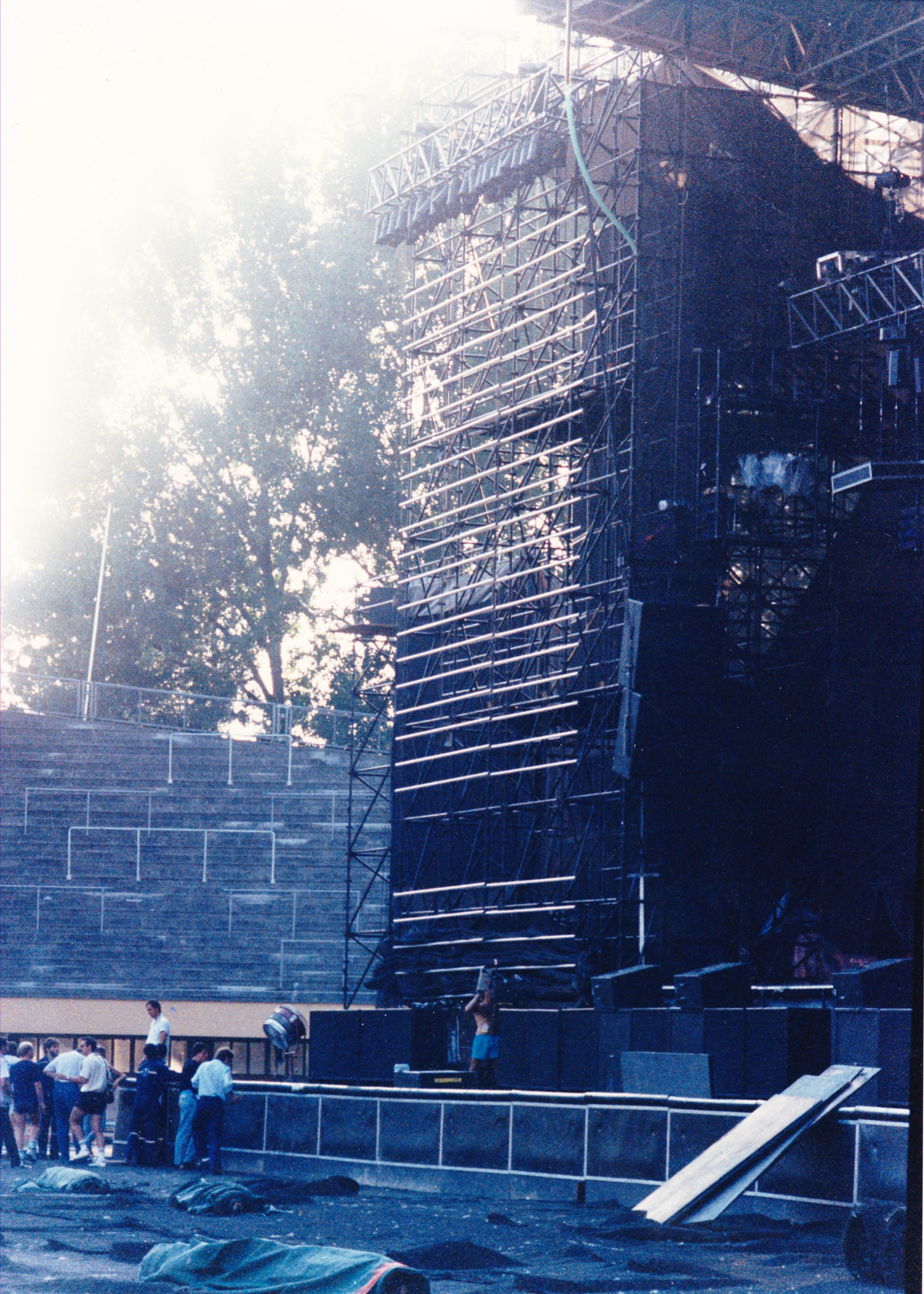 Stade Olympique Lausanne, concert Michael Jackson