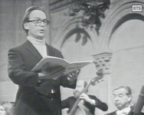 Philippe HUTTENLOCHER, «Messe de Bach - Michel Corboz», 2 mars 1973, Cathédrale de Genève, Radio Télévision Suisse