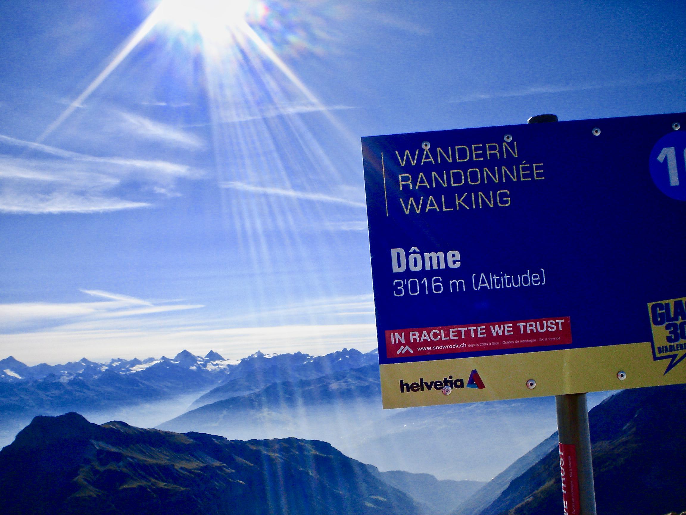 Sommet du Dôme 'des touristes', 3016 mètres