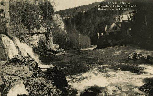 Les Brenets - Rapides du Doubs avec Usine de la Roche