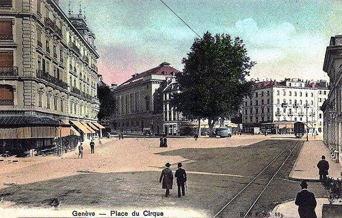 La Place du Cirque à Genève