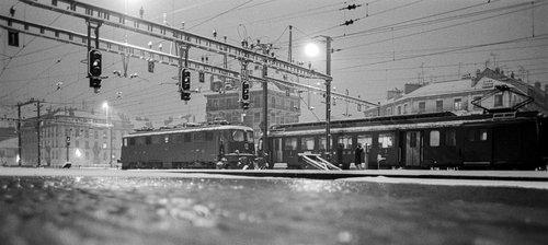 Genève, la Gare Cornavin sous la neige