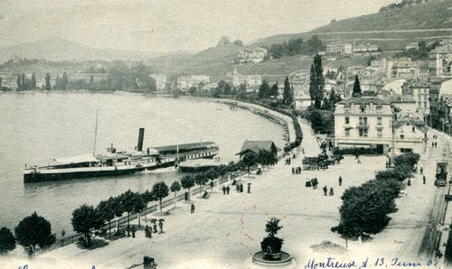 Montreux, l'embarcadère et le Bonivard