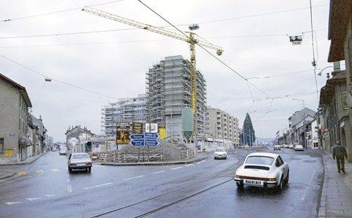 Chêne-Bourg, construction du centre commercial Coop