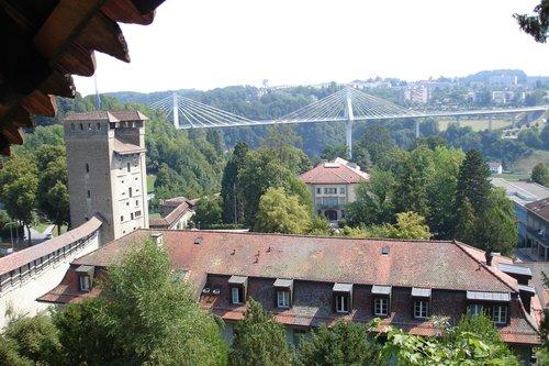 Vue depuis les remparts de Fribourg