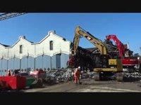 Lausanne - Destruction des Halles aux locomotives CFF