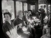 Le dernier tram à Fribourg