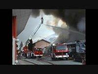 Incendie d'un garage à Sion - janvier 2001