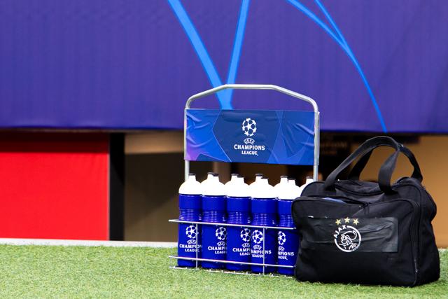 Als je Champions League speelt, moet alles in de juiste stijl. Ook wat bidons