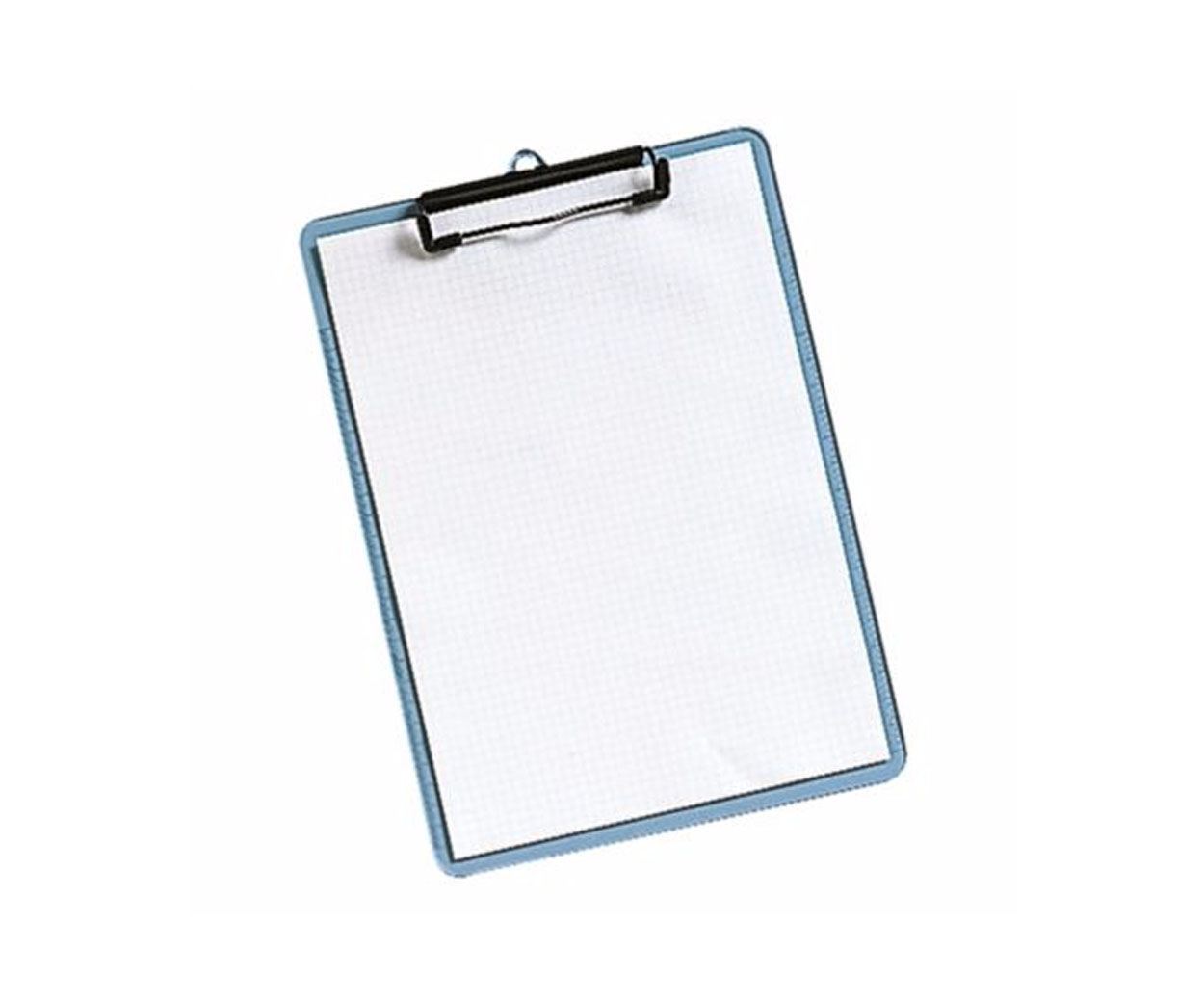 A4 Transparent Blue Clipboard