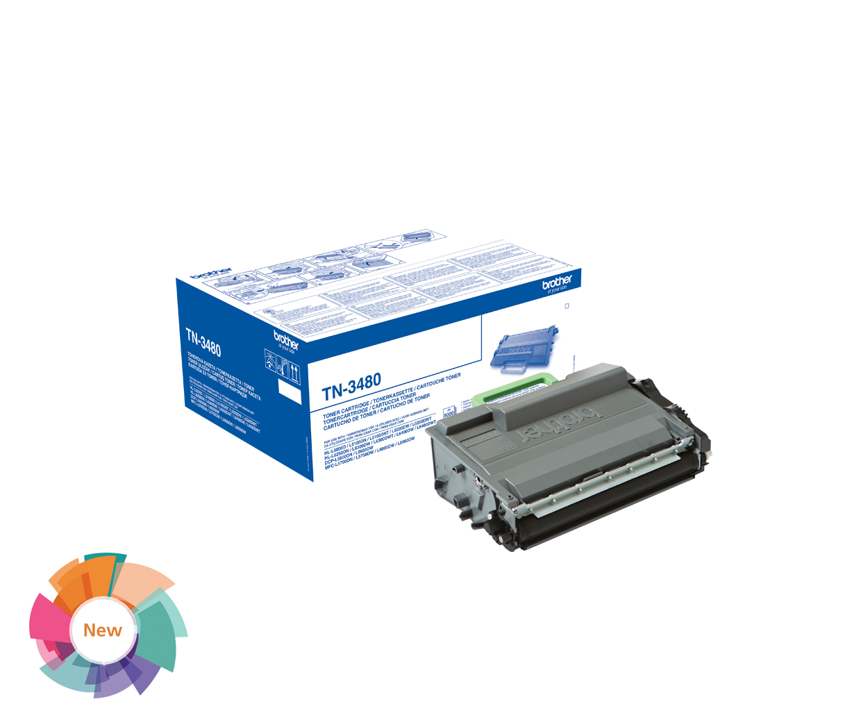 Stationery Clearance - Brother TN3480 Toner Cartridge