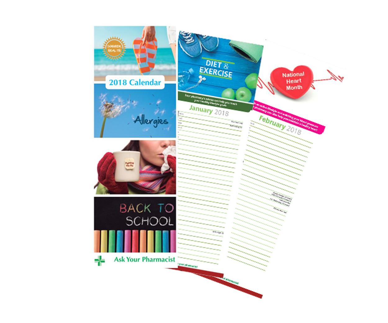 2018 Healthcare Calendar - Pack of 50