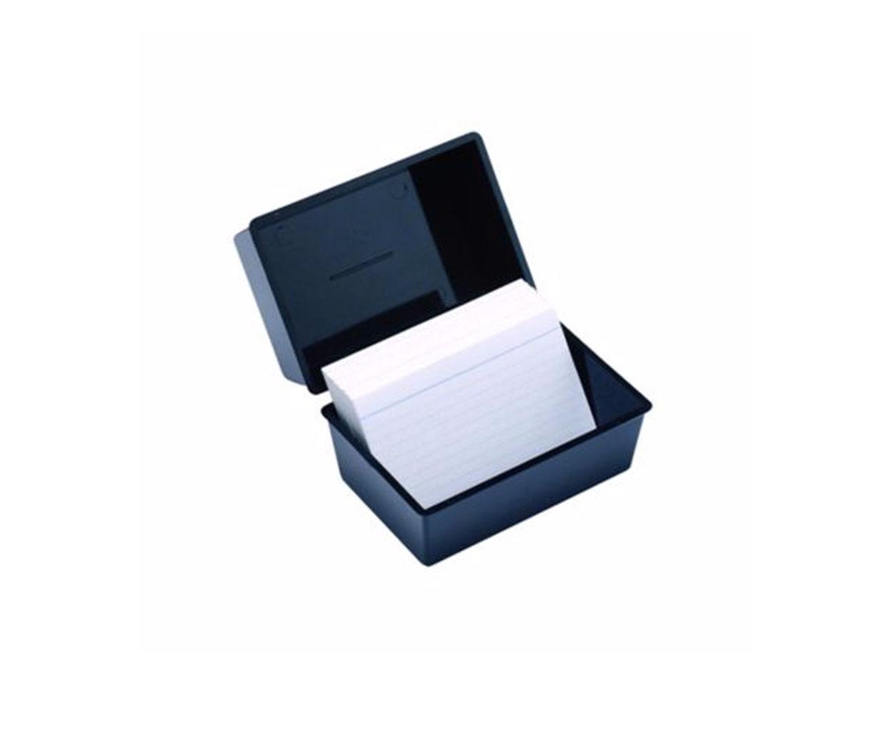 Black Card Index Box - 203 x 127mm