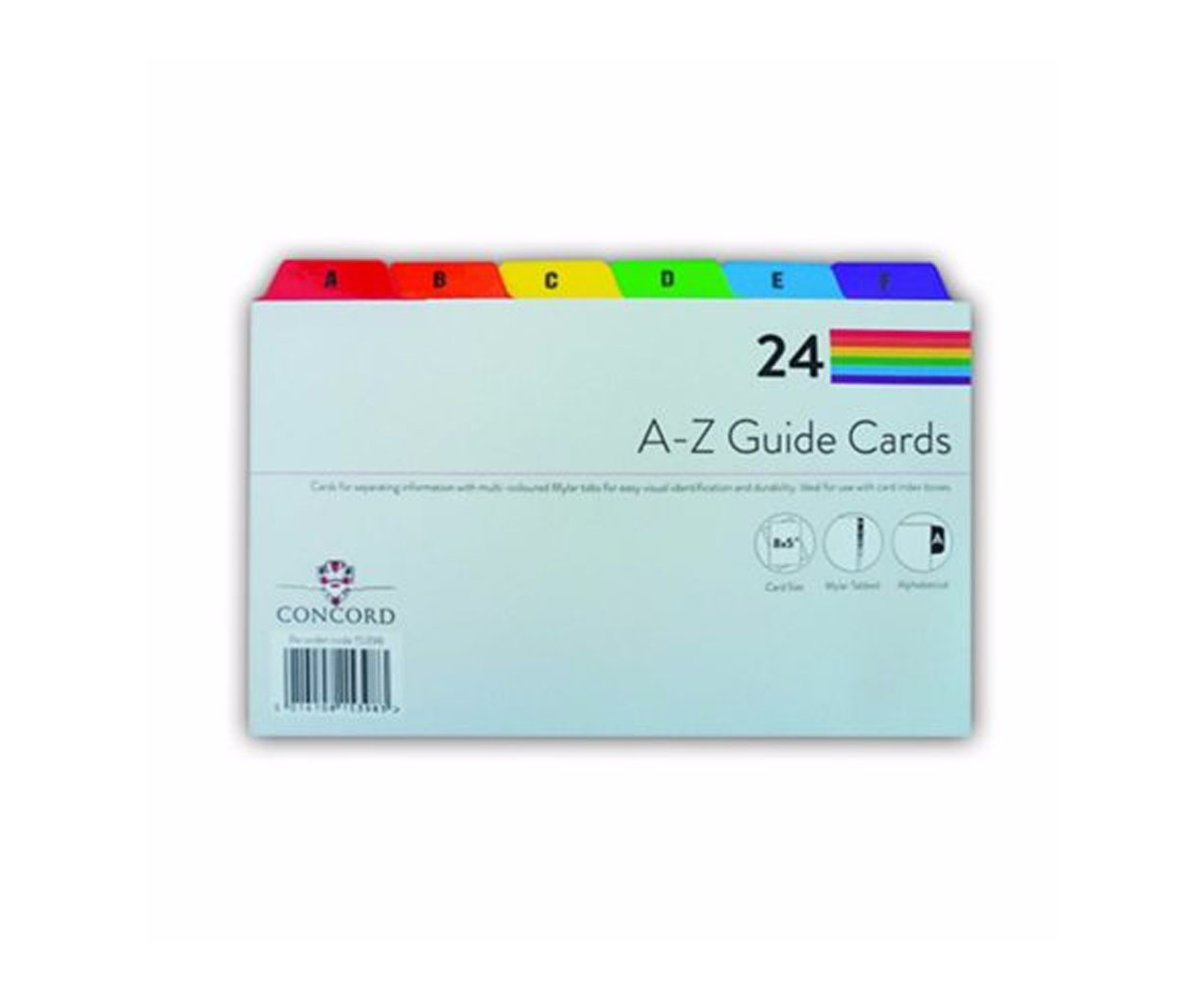 A-Z Guide Cards - 203 X 127mm