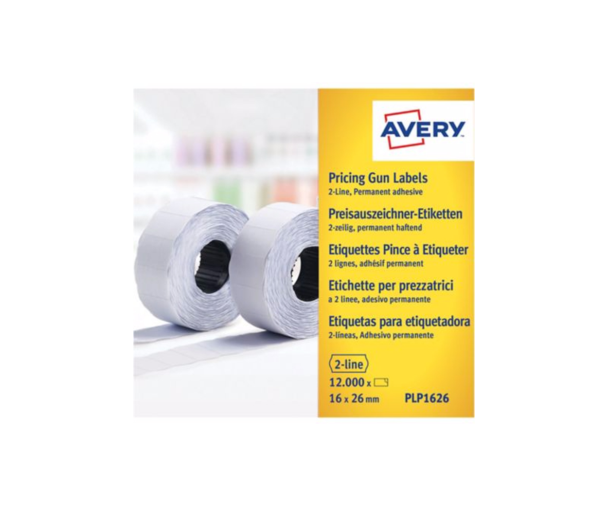 Avery Pricing Gun Labels 16 x 26mm - Pack of 1