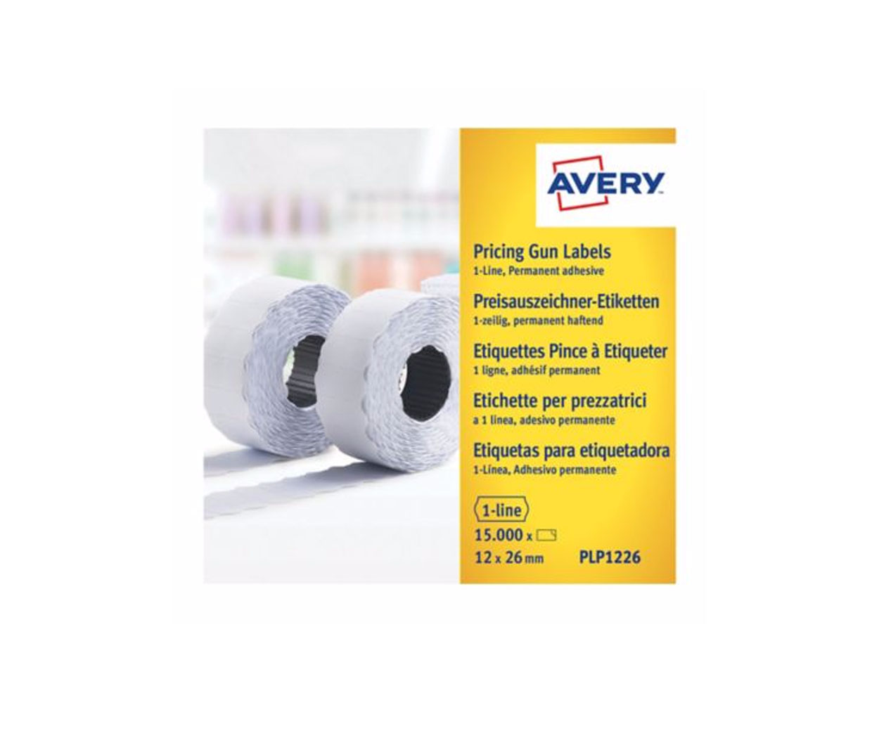 Avery Pricing Gun Labels 12 x 26mm - Pack of 1