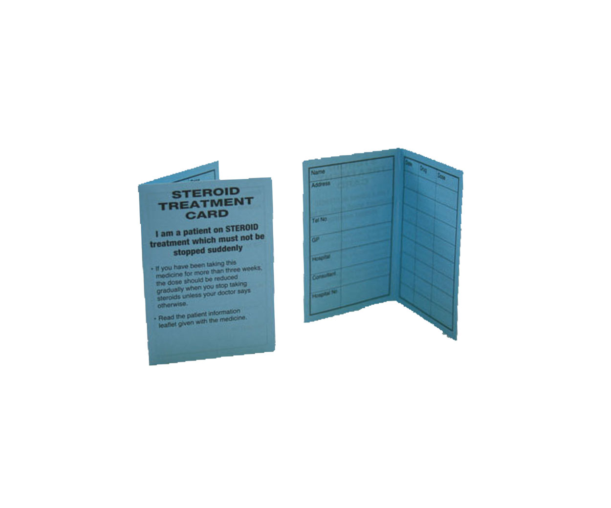 Steroid Treatment Cards - Pack of 100