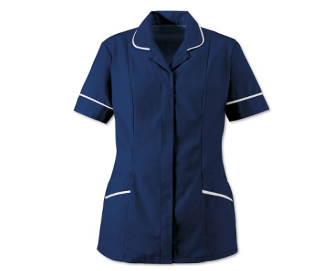 Ladies Navy with White Trim Soft Brushed Tunic
