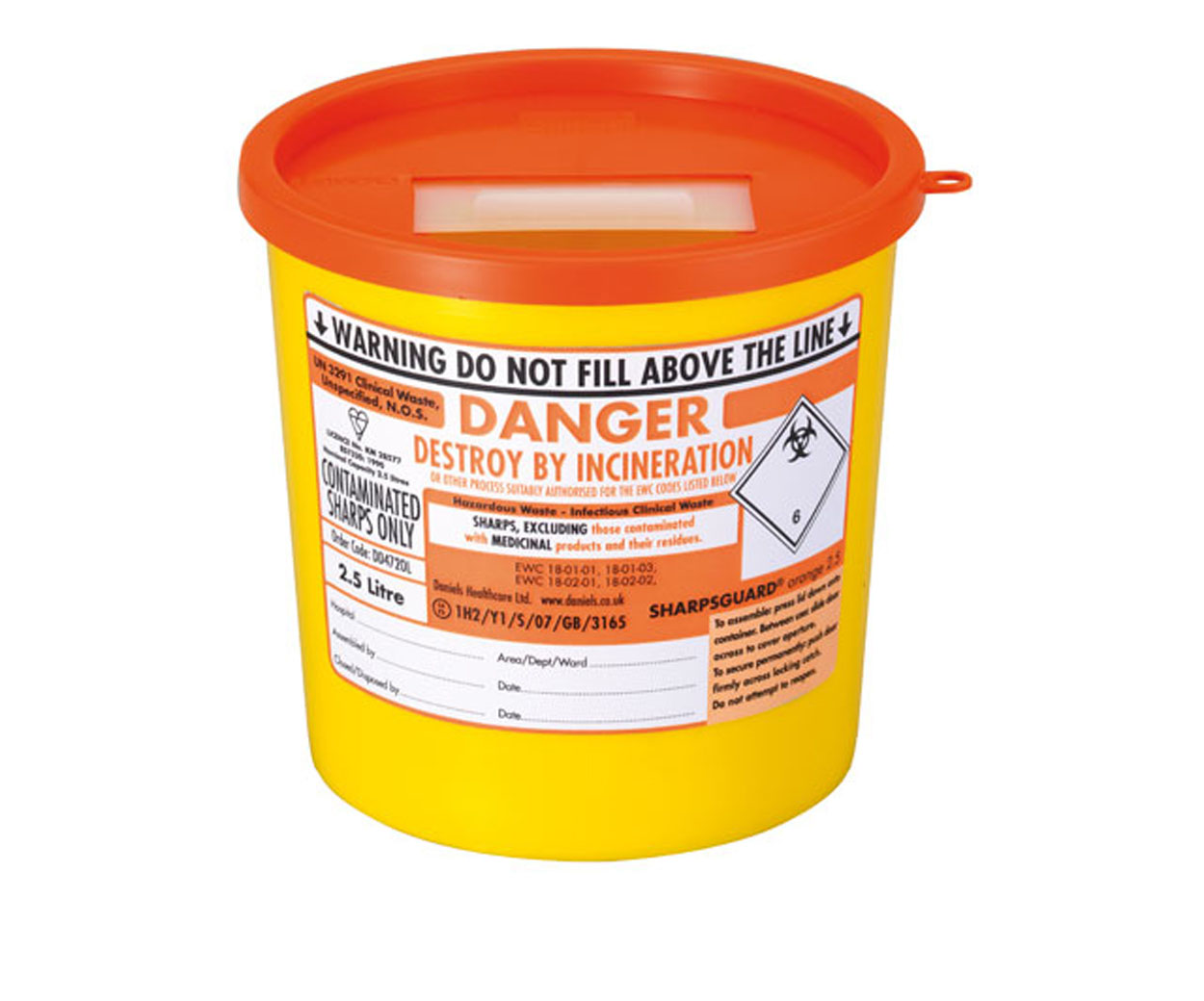 Sharps Bin - 2.5 Litre - OUT OF STOCK