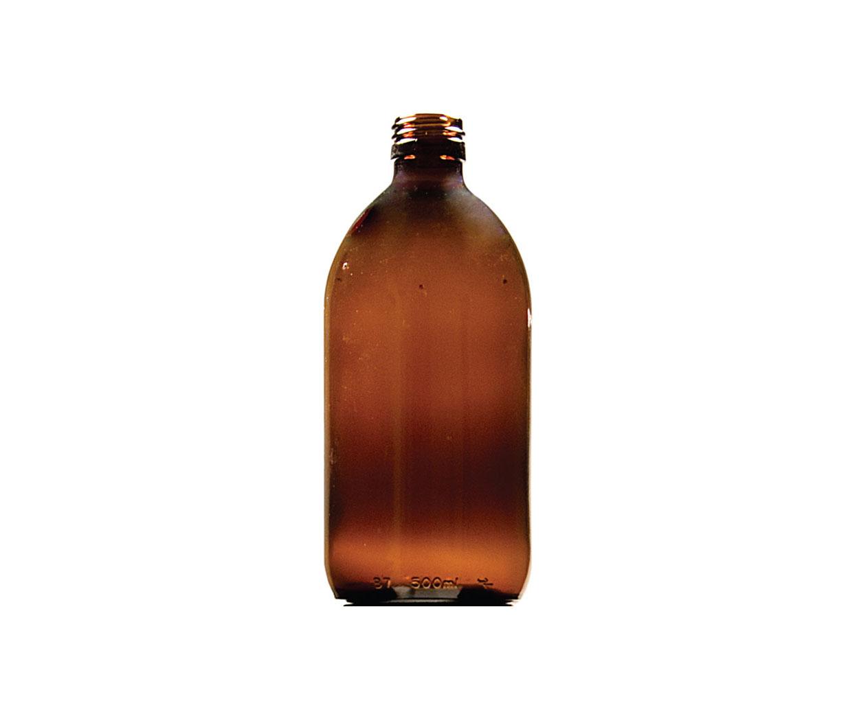 Lightweight 100ml Round Glass Medicine Bottle - Pack of 104