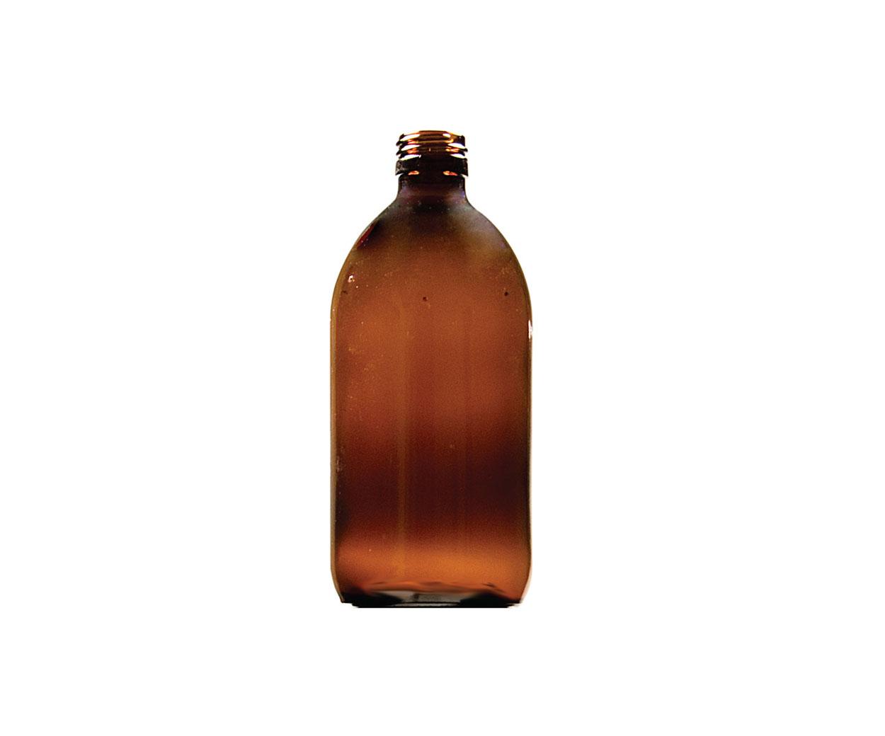 Lightweight 200ml Round Glass Medicine Bottle - Pack of 67