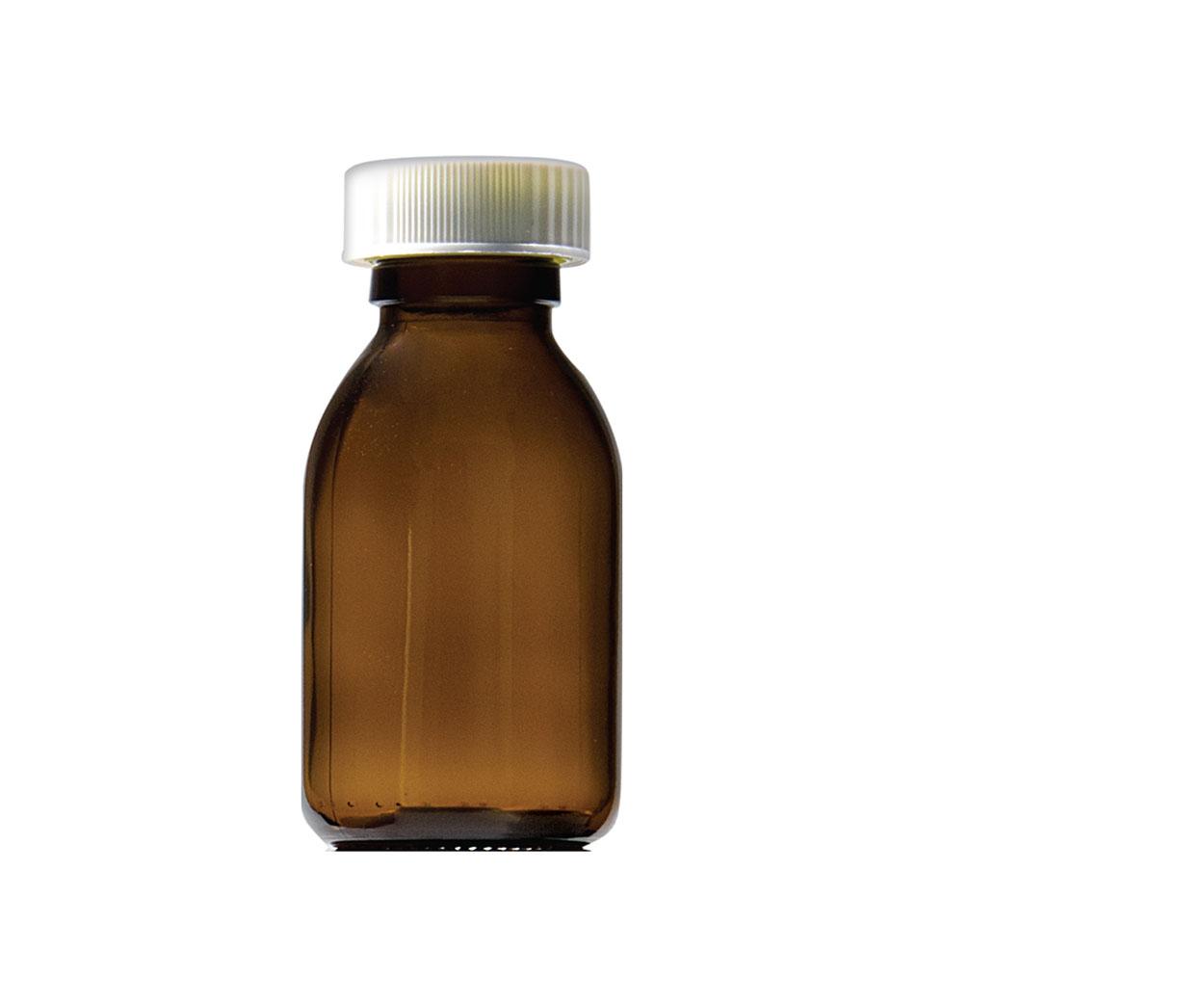 Capped Glass Medicine Bottle - Pack of 36