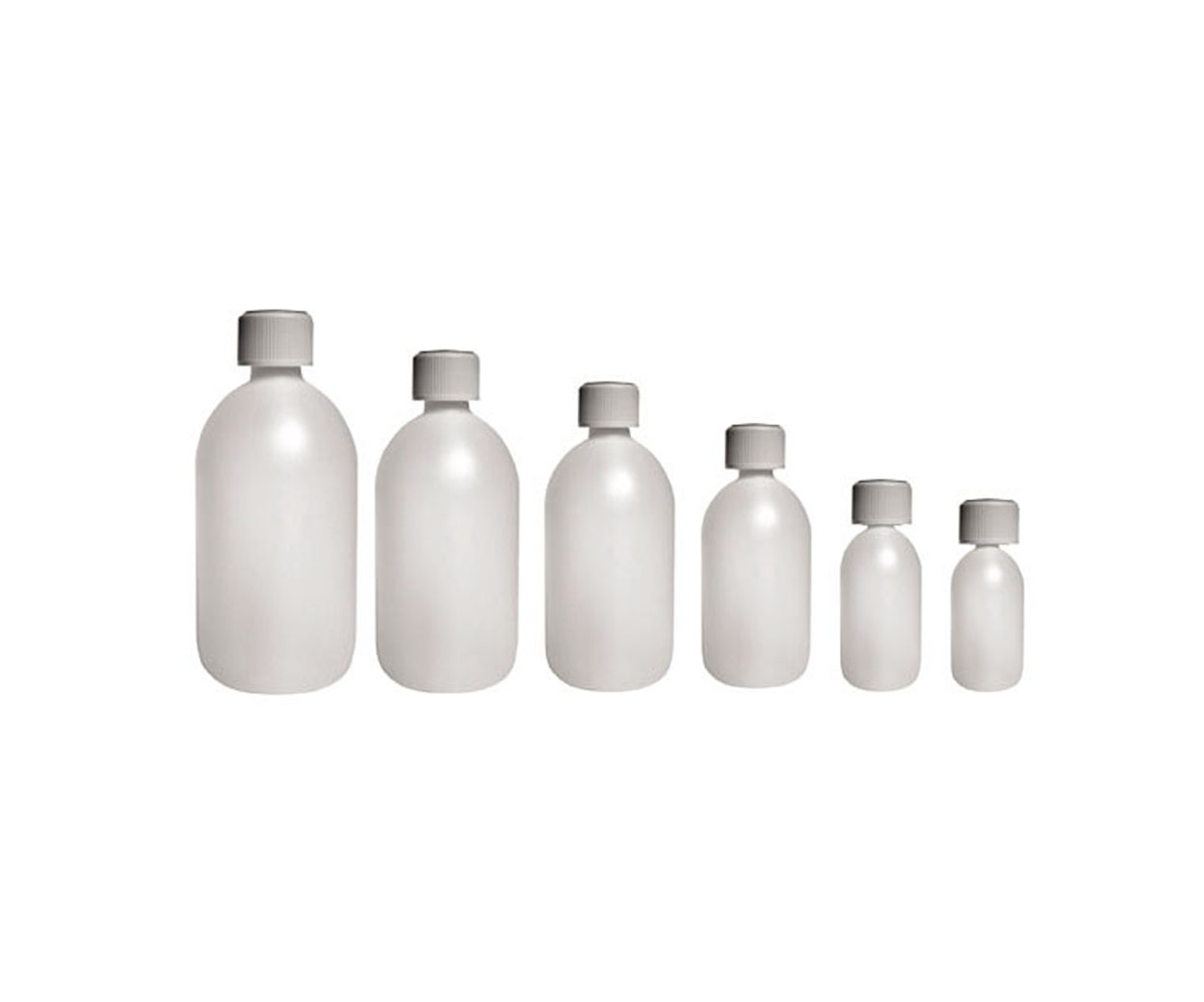 Plastic Capped Medicine Bottle - Pack of 20