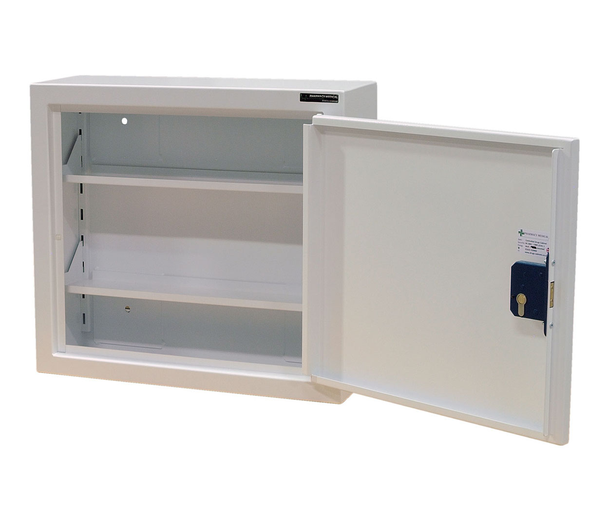 HEC Controlled Drug Cabinet 480mm x 560mm x 160mm - 2 shelf