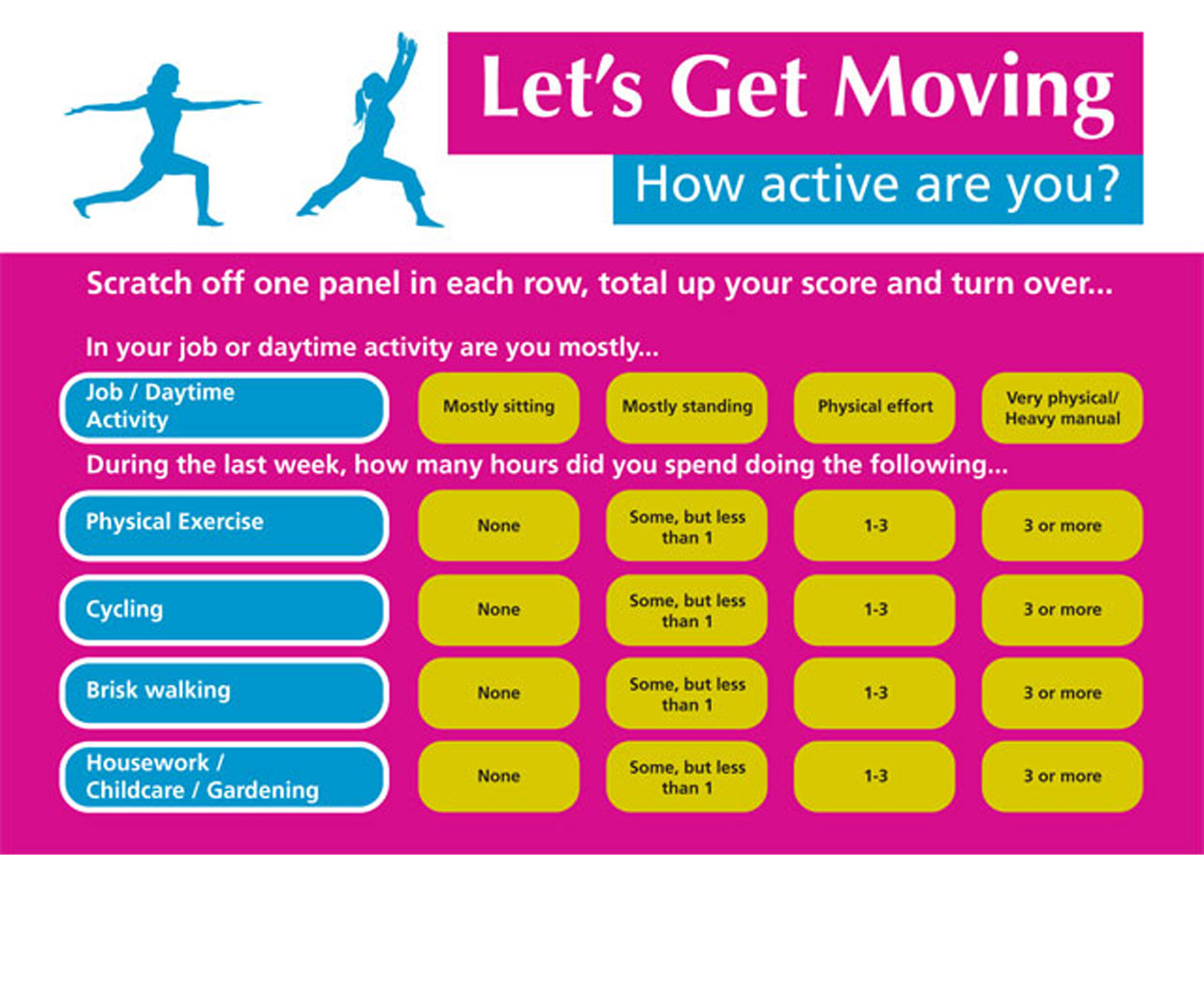 Let's Get Moving Scratch Cards - Pack of 100