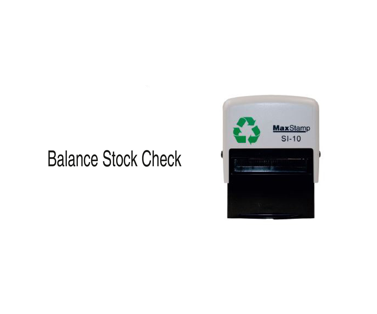 Balance Stock Check Stamp