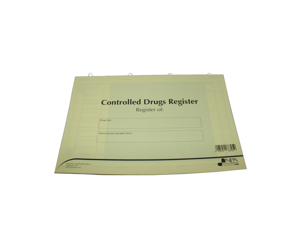 Blank Controlled Drugs Register Inserts - Pack of 5