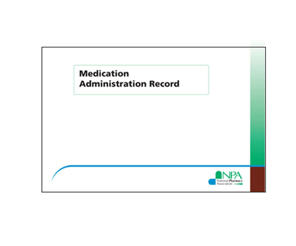 Medication Administration Record Book