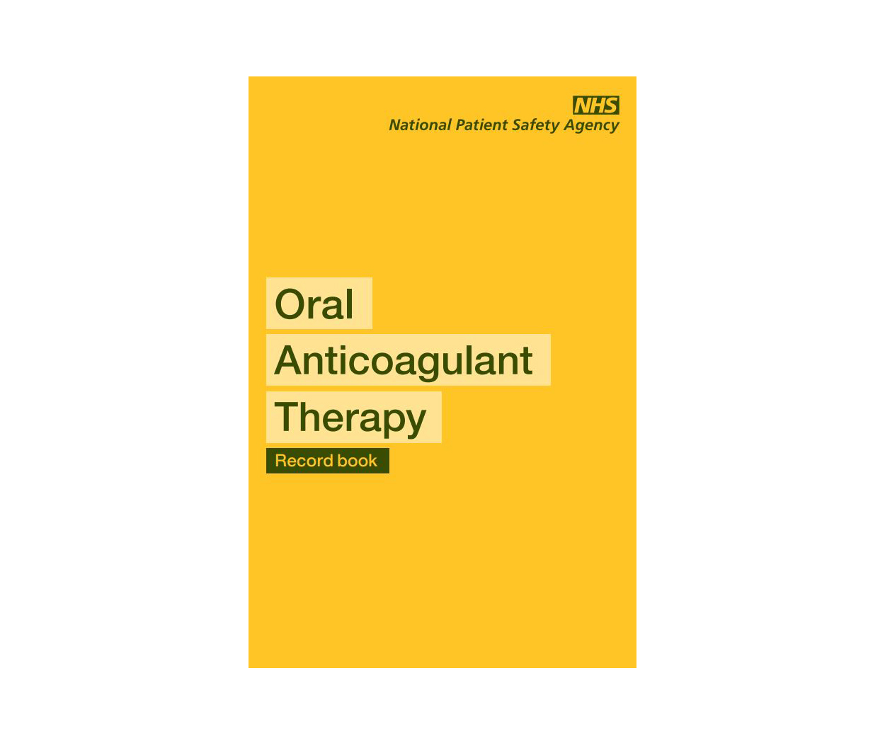 OAT (Oral Anti-Coagulant Therapy) record booklet - Pack of 50