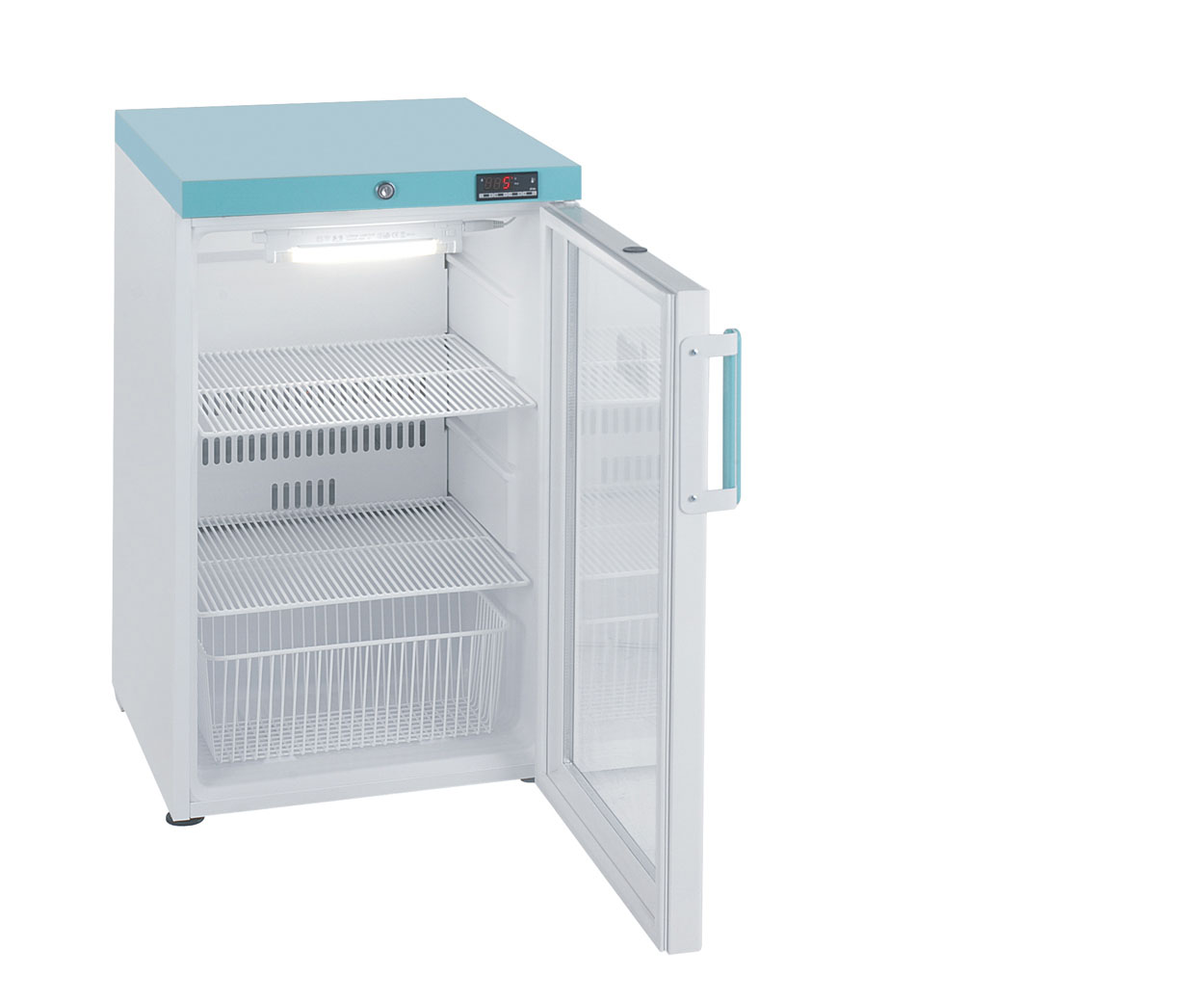 107 Litre LEC PG307C Under-counter Pharmacy Refrigerator with Glass Door